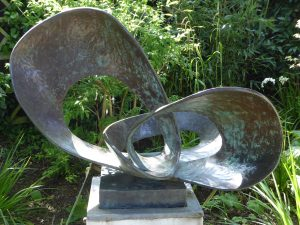 Forms in Movement (Pavan) 1956-9 by Barbara Hepworth in St Ives Cornwall