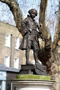 Mozart sculpture by Philip Jackson
