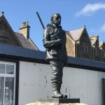 Dr John Rae by Iain Scott at Stromness Orkney
