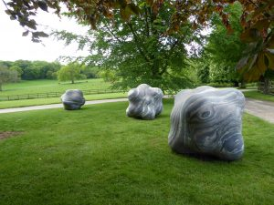 Shapes in the Clouds I, IV, V by Peter Randall-Page at New Art Centre Roche Court Salisbury
