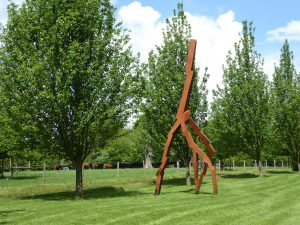 Lightning Strike by David Nash at New Art Centre Roche Court