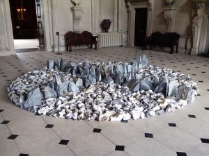 Book Room Gallery North South East West by Richard Long at Houghton Hall Norfolk